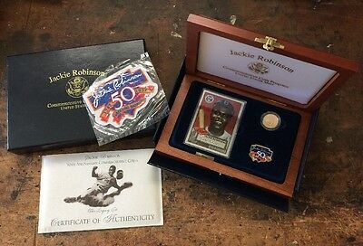 "1997 G$5 Proof Jackie Robinson 50th Anniversary Commemorative ""The Legacy Set"""