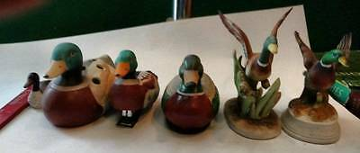 6 Ducks Ceramic 1 pencil  sharpener 1 holder 1 stapler
