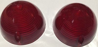 1956 Chevy Bel Air Tail Light Lenses Gm  Guide Glo 5947161 Nos