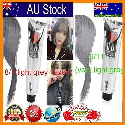 Pro Fashion Grannyhair Light Gray Color Hair Permanent Super Dye Cream 100ml M#