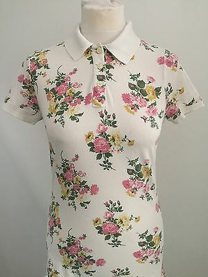 JACK WILLS Women's FLORAL Polo Shirt Size 12