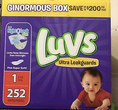 ***NEW*** Luvs Ultra Leakguards Diapers Size 1, 252 Count ***FREE SHIPPING***