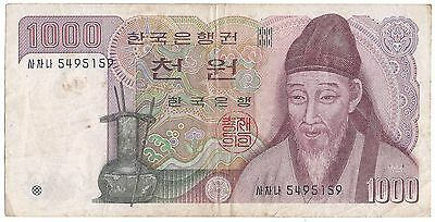 1983 The Bank of Korea (South Korea) 1000 Won Note