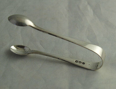 Elegant Pair Of Edwardian Solid Silver Sugar Tongs - London 1904.