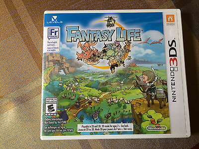 Fantasy Life - Nintendo 3DS - Complete in Box CIB - Great Condition!