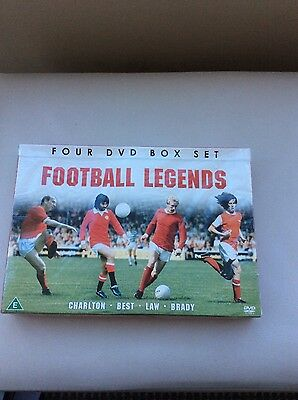 Football Legends - Best, Brady, Charlton And Law (DVD, 2013, 4-Disc Set, Box..