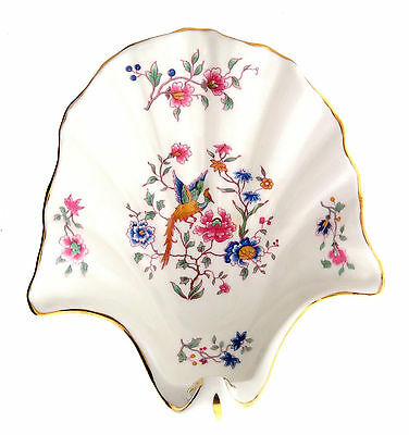 Hammersley Aynsley Bone China Dish England Bird Floral 5.5x6