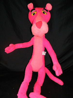 Vintage 1964 Pink Panther Plush Posable 36 Inches Tall By Mighty Star Cartoon