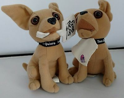 Vintage Taco Bell~Chihuahua~Lot of 2~Free Tacos & Yo Quiero~Applause Dogs