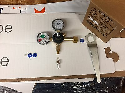 Taprite Pressure Gauge Co2 Bottle Regulator-New, With Wrench,Fitting, & Washers