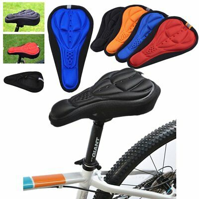 New Cycling Bike Bicycle MTB Silicone Gel Cushion Soft Pad Saddle Seat Cover M#