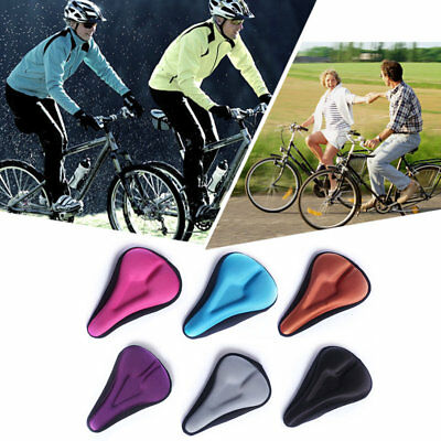 Silica Gel Bike Seat Bicycle Saddle Mat Comfortable Cushion Seat Cover A34 M#