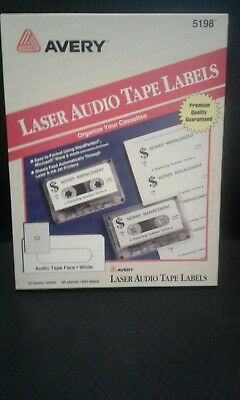 Avery Laser Audio Tape Labels #5198  45 Sheets 540 Labels