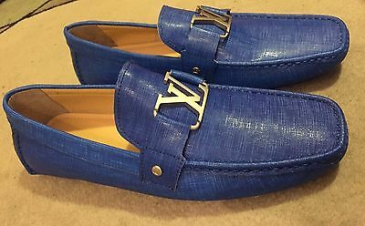 Blue Louis Vuitton shoes loafers - size 11