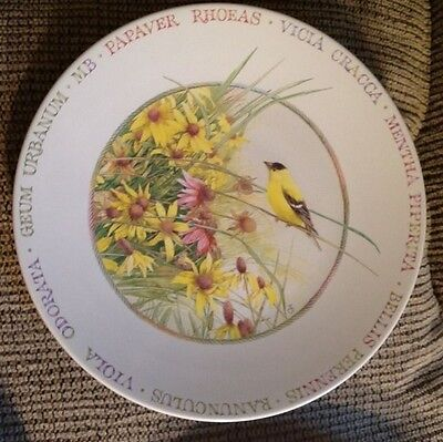8 nEw Hallmark plate ~ Wildflower Meadow w/ Bird & Flowers ~ by Marjolein Bastin