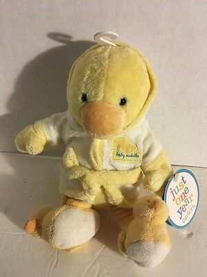 Just One Year Carters Plush Duck Robe Slippers Stuffed Animal Toy Lovey NEW