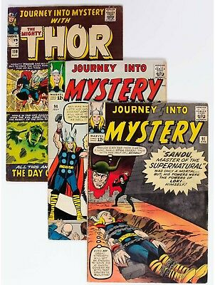 Journey Into Mystery Group of 5 (Marvel, 1963-65) Condition: Average VG....