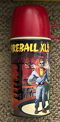 Fireball  Xl5  Tall Metal Thermos  C 1964  #2072  Early Version