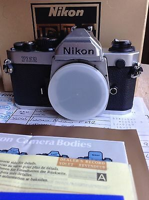 Nikon FM2 35mm SLR Camera BODY Chrome ONE OWNER Instruction Book BOXED!