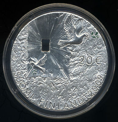 Finland 2009 Peace & Security Silver Proof Coin 20 Euro COA COTY Award Boxed
