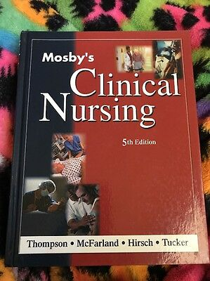 Mosby's Clinical Nursing 5th Edition Hardcover Excellent Condition Book 2002
