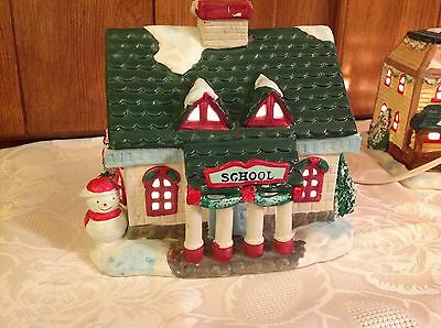 Christmas Traditions Lighted Village House School house in box