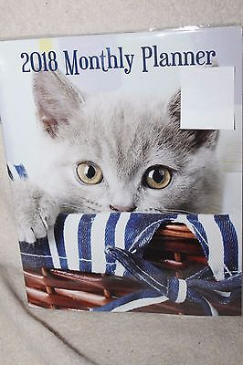 2018 Monthly Planner 8 X 10 Cute Cat Kitty