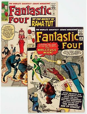 Fantastic Four #19 and 20 Group (Marvel, 1963).... (Total: 2 Comic Books)