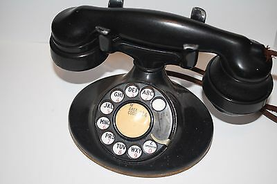 1930's Western Electric Art Decco Rotary Phone with Ringer Subset Box-Works!!