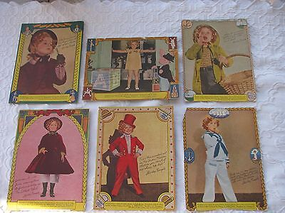 "Vintage ShirleyTemple Wheaties Cereal Box Collectible Cards 8"" x 6"" Rare, 1930s"