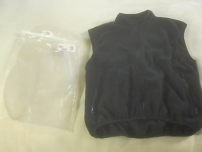 Black adult McKenzie Outfitters Fleece Zip Vest Small New in package ~ 2993