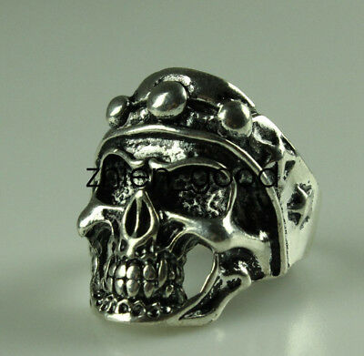 Collection decorations Miao silver Handmade Skull head ring