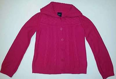 NWOT New GAP Kids XXL 14 16 Hot Pink Cable Knit Cardigan