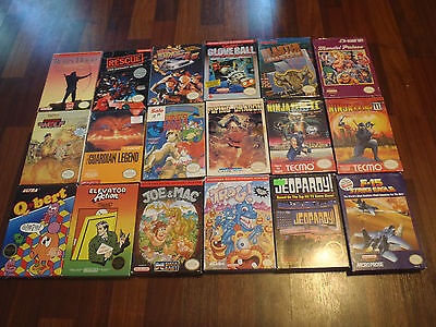 Lot Of 28 Complete In Box Cib Nintendo Nes Games Ninja Gaiden 2 3