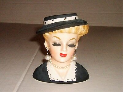Beautiful Vintage INARCO Lady Head Vase Lucille Ball E-969/S Dated 1963