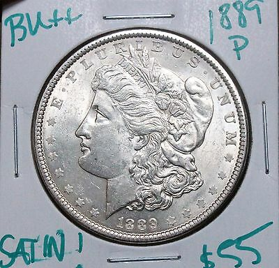 1889 $1 Morgan Silver Dollar BU++ SATIN LUSTER ATTRACTIVE ALBUM COIN!