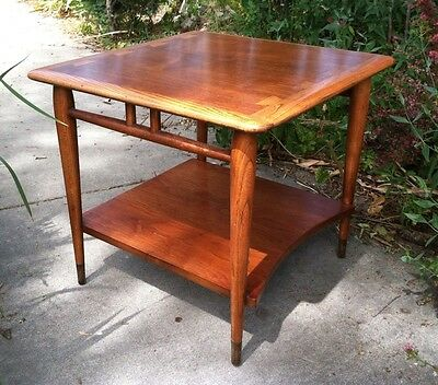 mid century danish modern LANE ACCLAIM SQUARE LAMP TABLE Andre Bus