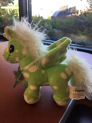 "Neopets GREEN SPECKLED UNI 6"" Plush STUFFED ANIMAL Toy Doll Little Unicorns"