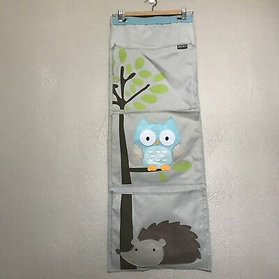 Eddie Bauer First Adventure Baby Kids Canvas Hanging Door Wall Organizer Owl