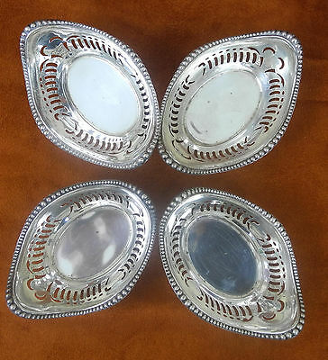 4  Antique Sterling Silver Gorham Reticulated Nut / Spice Dish Galt & Bro
