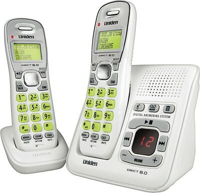 Uniden Dect Digital 1635+1 2 Handset Cordless Telephone White And Answer Machine