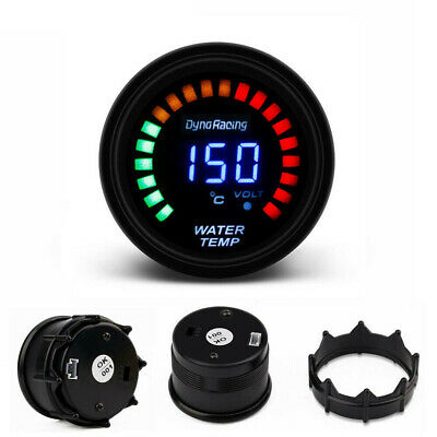 2'' 52mm Car Digital / Analog  LED Electronic Water Temp Temperature Gauge Smoke