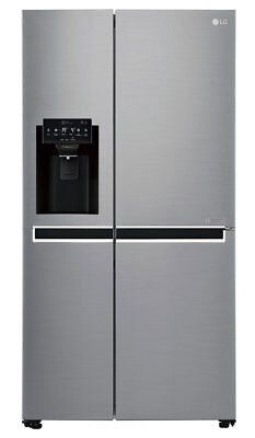 LG - GS-L668PNL - 668L Side by Side Refrigerator - No Plumbed Ice & Water Dis...