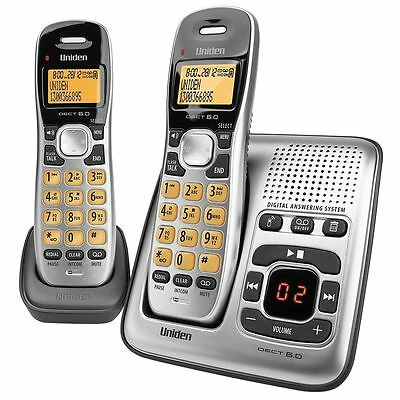 Uniden Dect Digital 1735+1 2 Handset Cordless Telephone  And Answer Machine New