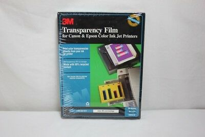 3M CG3410 Transparenty Film for Canon & Epson Color Ink Jet Printers BRAND NEW