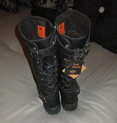 WOW! CUTE Women's Harley-Davidson Boots - Size 8.5   NEW