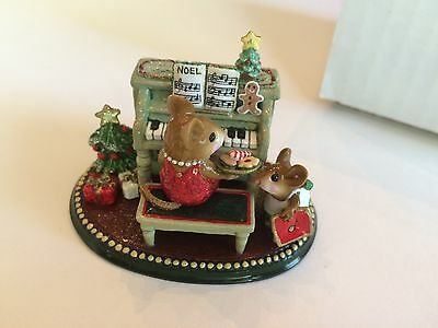 Wee Forest Folk M-282c  HER CHRISTMAS MUSIC LESSON, Ltd. Edition, Mint