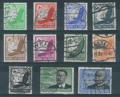 TMM* 1934 Germany Airmail stamp set used/unhinged C46-56 F/VF