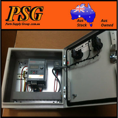 0.75kw VSD speed controller in cabinet - 240 Volt supply in - 3phase 230v output