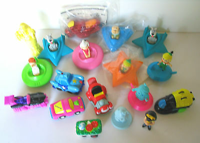 Lot 18 Wendys Toys Jetsons Ann Marie Cybercycle Pull Back Cars 1980's To 1990's